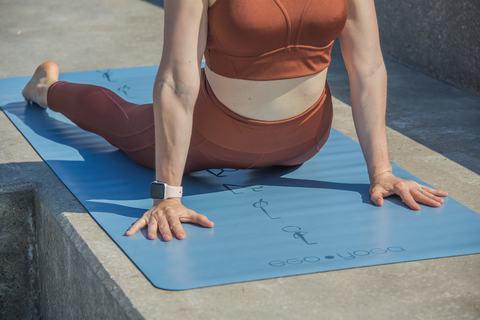 Каучуковый коврик для йоги Surya Namaskar с разметкой 185*68*0,2 см