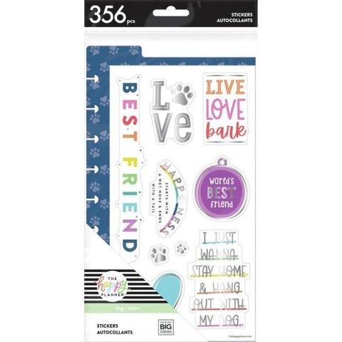 Набор со стикерами + платиковый разделитель -Happy Planner Classic Dashboards-by Me & My Big Ideas- Live Love Bark- 356шт.