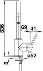 Смеситель Blanco Mida-S Silgranit - схема
