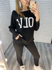 женский спортивный костюм черного цвета недорого