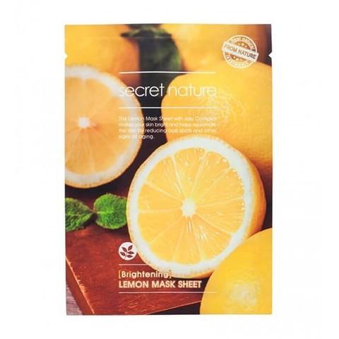 SECRET NATURE LEMON SHEET MASK Маска, придающая сияние коже с лимоном