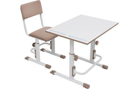 Стул для школьника регулируемый Polini kids City / Polini kids Smart L, белый-макиато