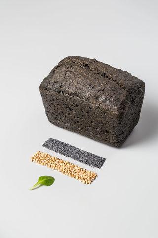 Хлеб безглютеновый «Уголёк маковый», 450 г