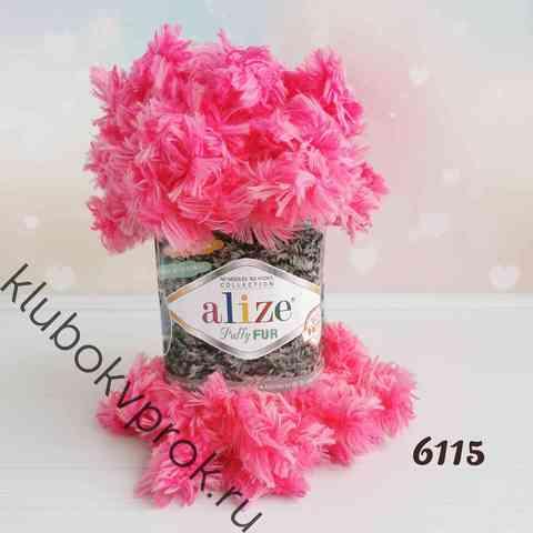 ALIZE PUFFY FUR 6115, Яркий розовый