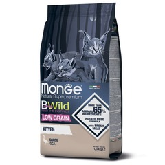 Monge Cat BWild Low Grain Kitten Сухой низкозерновой корм для котят из мяса гуся