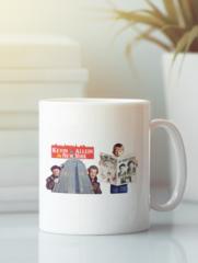 Кружка с рисунком Один дома, Кевин Маккаллистер, Гарри и Марв (Home Alone) белая 003