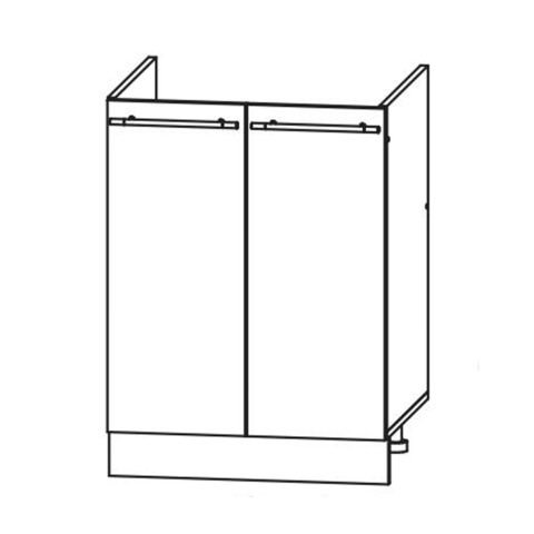 Кухня Вита шкаф нижний мойка 850*600
