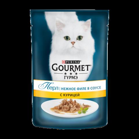 Gourmet Perle Консервы для кошек Нежное филе с Курицей в соусе (Пауч)