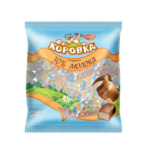 Конфеты шоколадные Рот Фронт Коровка 30% молока 250 г