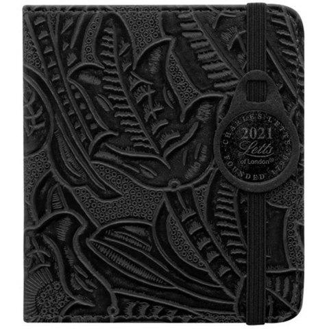 Еженедельник Letts Baroque 100x90мм кремовые стр фикс резинка черный (412 151810)