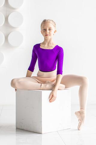 2 Sleeves leotard for kids | violet