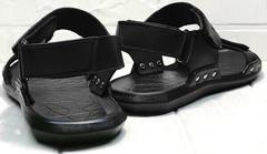 Кожаные босоножки мужские сандалии в спортивном стиле Zlett 7083 Black.
