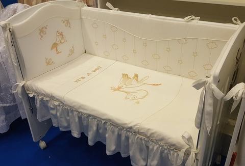 Комплект в кроватку для новорожденного «Аист»