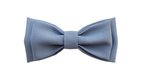 Однотонный галстук - бабочка (серо-синий)