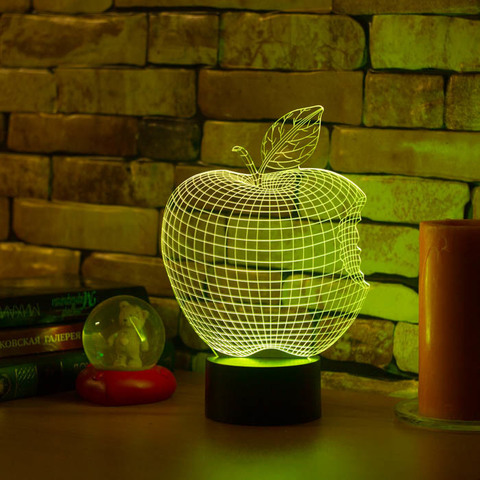 3D ночник Яблоко - Apple