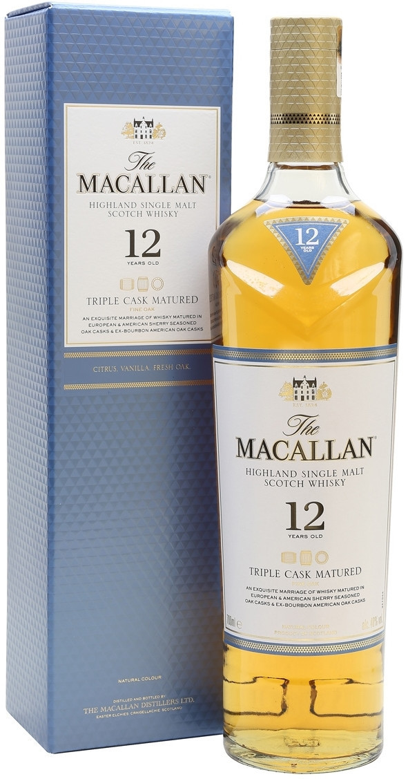 Виски Макаллан 12 лет Трипл Каск Майчурд 0,7л П/У (6)