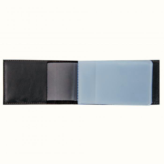 Визитница карманная «Фьорды». Цвет черный