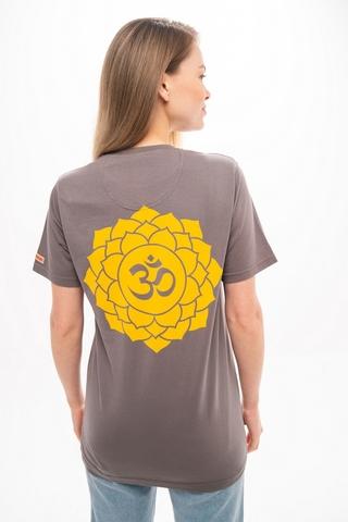 Футболка unisex Lotus Grey Stone