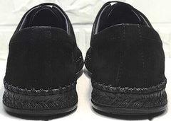 Легкие мокасины туфли мужские натуральная кожа летние стиль casual Luciano Bellini 91754-S-315 All Black.