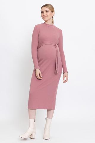 Платье для беременных и кормящих 12857 темно-розовый