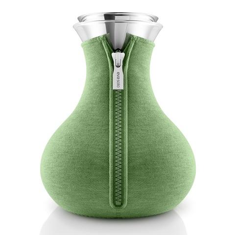 Чайник заварочный Tea maker в неопреновом текстурном чехле, 1 л , светло-зелёный