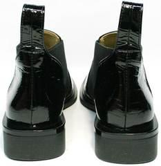 Черные кожаные ботильоны женские демисезонные Ari Andano 721-2 Black Snake.