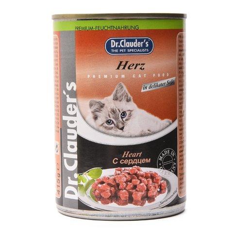Dr. Clauder's Консервы для кошек с сердцем кусочки в соусе (Банка)