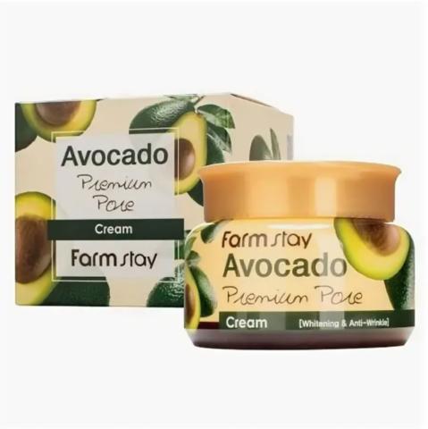 Осветляющий лифтинг-крем для лица с экстрактом авокадо Avocado Premium Pore Cream