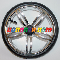 Колесо для детской коляски №006040 надув 12дюймов (металлизация) низкопрофильное