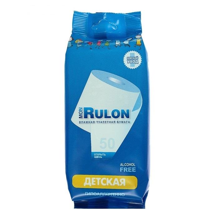 Туалетная бумага влажная MON RULON ДЕТСКАЯ, 50шт.