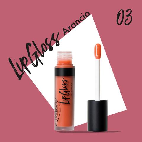 Жидкая помада-блеск для губ тон 03 апельсин | PuroBio