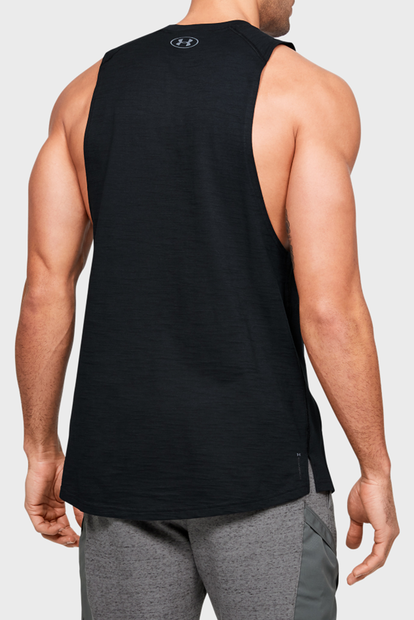 Мужская черная майка Project Rock Charged Cotton Tank Under Armour