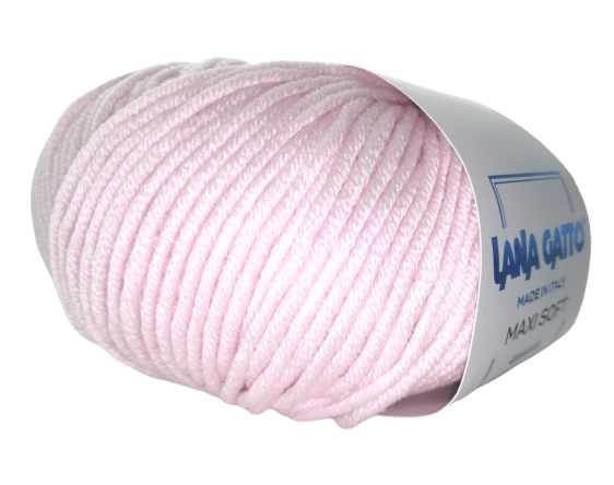 Пряжа Lana Gatto Maxi Soft 13210 нежно-розовый