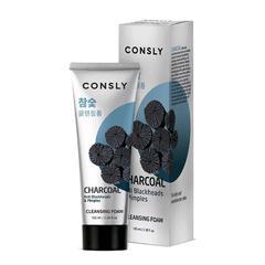 Consly - Кремовая пенка для умывания с древесным углем, 100мл