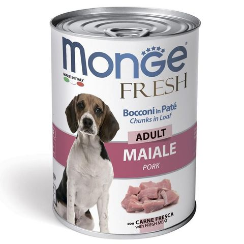 Monge Dog Fresh Chunks in Loaf Консервы для собак мясной рулет из свинины (банка)
