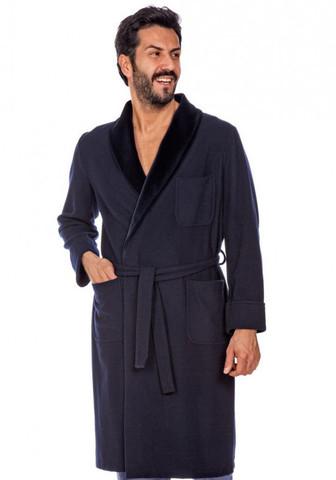 Шикарный мужской халат с бархатным воротником