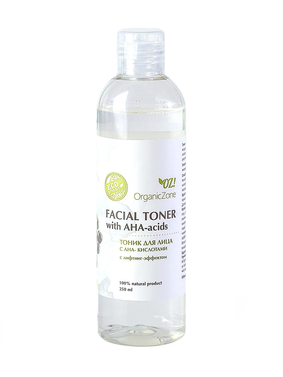 Тоник для лица с АНА-кислотами с лифтинг-эффектом OrganicZone