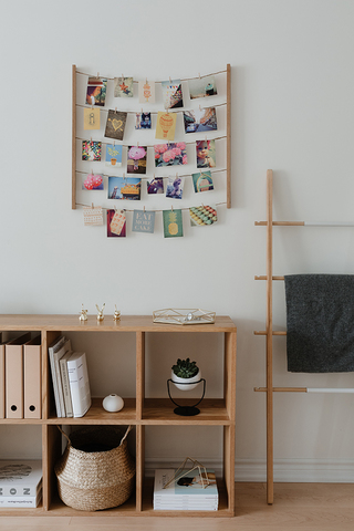 Панно с зажимами для 40 фотографий Hangit дерево