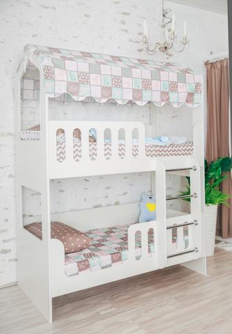 Двухъярусная кровать-домик ЛДСП