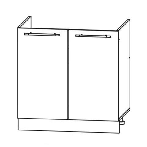 Кухня Вита шкаф нижний мойка 850*800