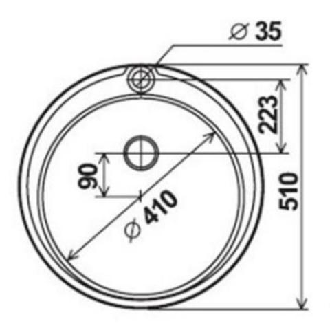 мойка врезная круглая D51 см