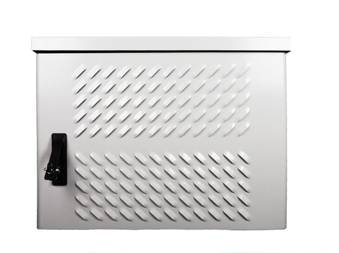 Шкаф ЦМО ШТВ-Н-12.6.5-4ААА уличный всепогодный настенный 12U (Ш600 × Г500), передняя дверь вентилируемая