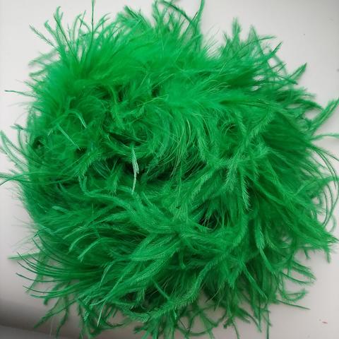 Боа  из перьев страуса и пуха 30 гр. зеленый