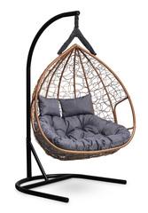 Подвесное двухместное кресло FISHT горячий шоколад