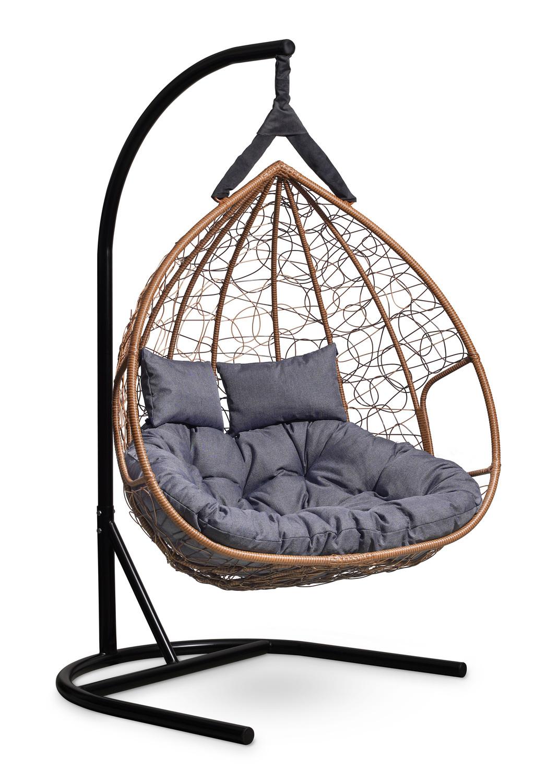 Подвесные кресла Подвесное двухместное кресло FISHT горячий шоколад podvesnoe-kreslo-kokon-fisht-goryachiy-shokolad-karkas-4.jpg