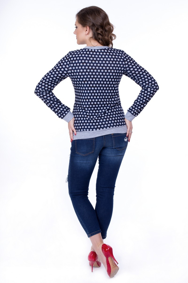Джемпер для беременных 01841 серый