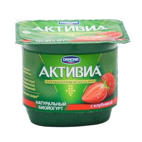 Йогурт АКТИВИЯ Клубника 2,9% 120 гр Danone РОССИЯ