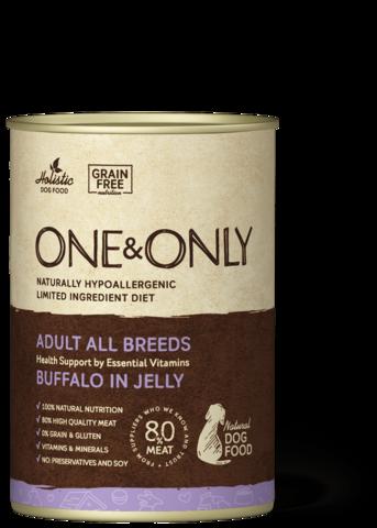 Консервы (банка) One&Only буйвол в желе для собак