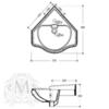 Раковина угловая Bella Migliore  41см ML.BLL-25.058.BI