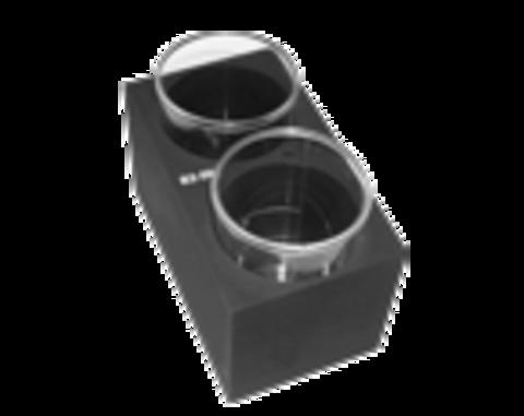 B2-50. Блок з 2 гніздами діаметром 50 мм (пласке дно). BioSan (Латвія)